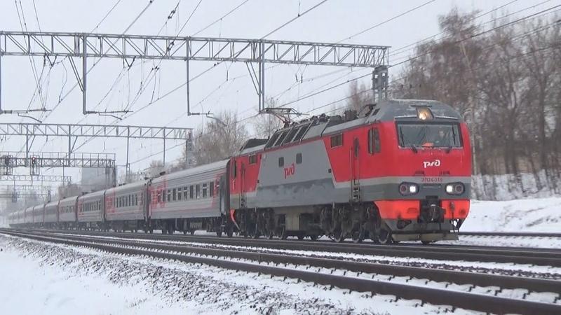Приветливый машинист на ЭП2К-319 с пассажирским поездом №15 Волгоград - Москва:-)