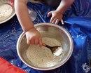 Занятия с детьми с 9 - 10 месяцев - игры с крупами