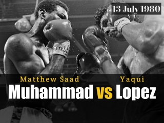 Мэттью Саад Мохаммед vsЯки Лопес Matthew Saad Muhammad vs Yaqui Lopez 13.07.1980 ll