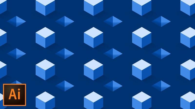 Isometric Cube Pattern Effect - Illustrator Tutorial