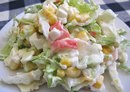Салат с пекинской капустой и крабовыми палочками