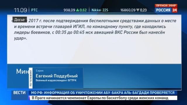 Новости на Россия 24 • Минобороны России уничтожило главаря Исламского государства