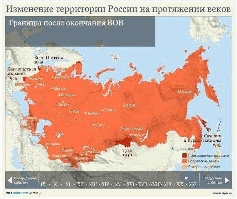 Изменение территории России на протяжении веков F0BbGLaQODo