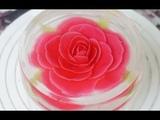 (https://vk.com/lakomkavk) How to make Jelly flower with 3D Gelatin Art Cake channel - 3D GELATIN ART ROSE
