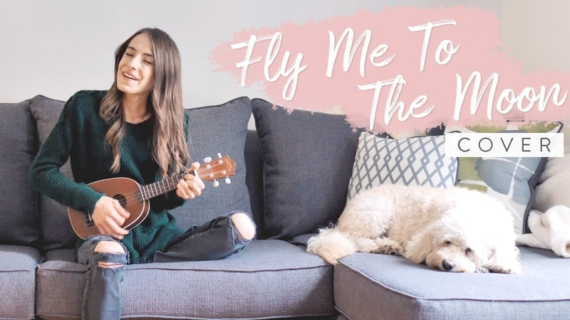 Fly Me To The Moon - Frank Sinatra (covered by Bailey Pelkman) ft. Charlee the golden doodle