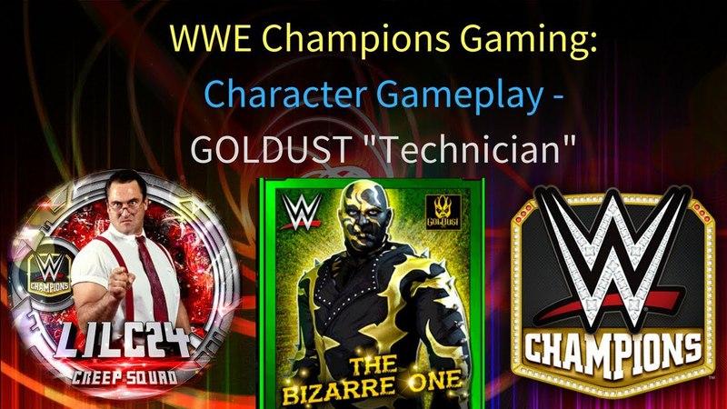 WWE Champions 🎥 Goldust Technician Character Gameplay Video SPAMMING THE BOTCH GEMS