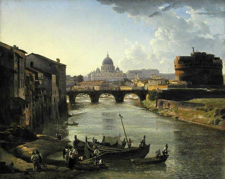 Щедрин С.Ф. Новый Рим. Замок св. Ангела. 1823(?)