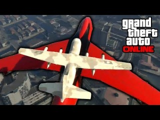 GTA 5: Online - Stunts & Funny Moments w/ Cargo Plane & Blimp | 22nd May 2014