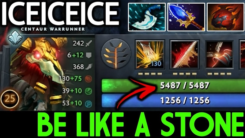 Iceiceice [Centaur Warrunner] Be Like a Stone 5400 HP 7.19 Dota 2