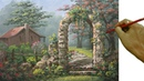 Painting Tutorial on How to Paint Old Rest House with Old Brick Arch in Acrylic and Palette Knife