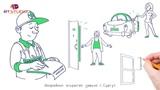 Рекламный ролик в стиле Doodle для услуг аварийного вскрытия замков