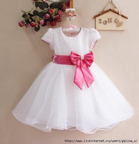 Праздничное платье для девочки. Выкройки… (9 фото) - картинка