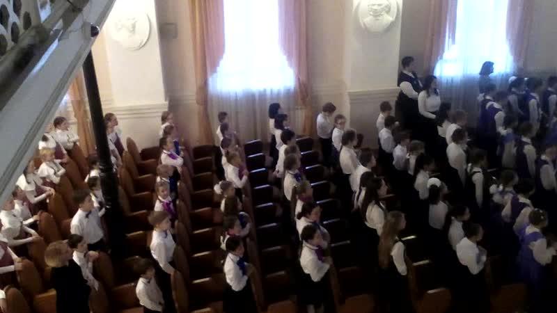 Тихая ночь - сводный хор музыкальных школ Екатеринбурга на конкурсе Хоровые встречи под рождество