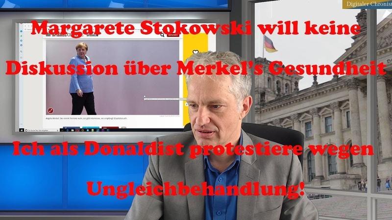 Margarete will keine Diskussion über Merkel's Zittern Ich als Donaldist protestiere!