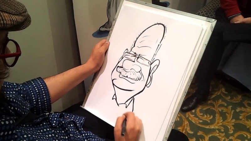 Live caricature at the Fab Bridal Show, Grandwest
