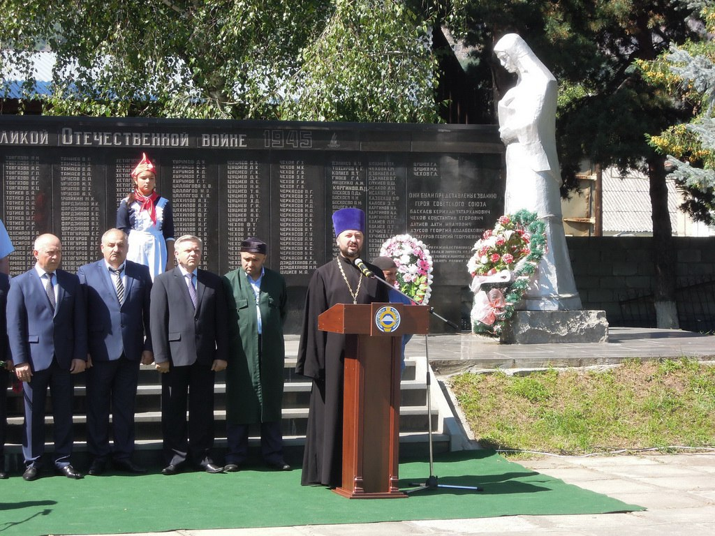 Представители администрации и духовенства Зеленчукского района приняли участие в митинге