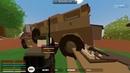 Косой снайпер построил дом и нашел подружек юмор Unturned 3 x