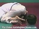 Barefoot judo girl win Sankaku Jime very nice soles