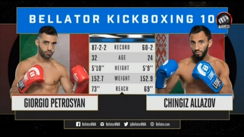 Bellator Kickboxing 10: Геворг (Джорджио) Петросян против Чингиза Аллазова