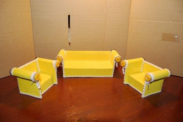 Мебель для куклы барби из подручных материалов