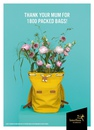 Реклама службы доставки цветов Interflora, посвященная Дню матери…