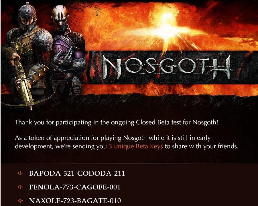 Nosgoth Closed Beta keys
