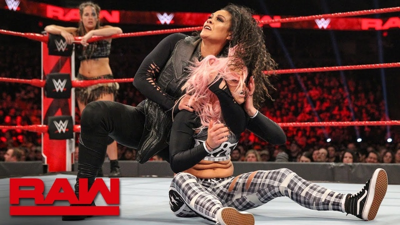 SBMKV_Video | Sasha Banks Bayley vs. Nia Jax Tamina vs. Liv Morgan Sarah Logan Raw, Feb. 11, 2019
