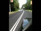 Хамы с мигалками из правительства на дороге
