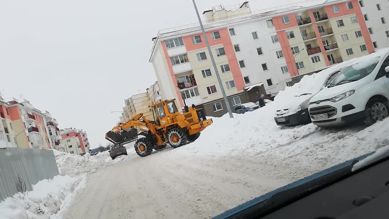 Уборка снега Ропшинское шоссе 3