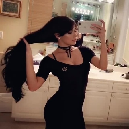 Black luscious hair (by instagram @lilladydee, song Uness Beatz - Andalusia) · coub, коуб