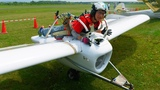 Smallest Aircraft In The World With Engine and Pilot