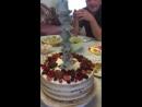тортик с сюрпризом для Сашули на ДР