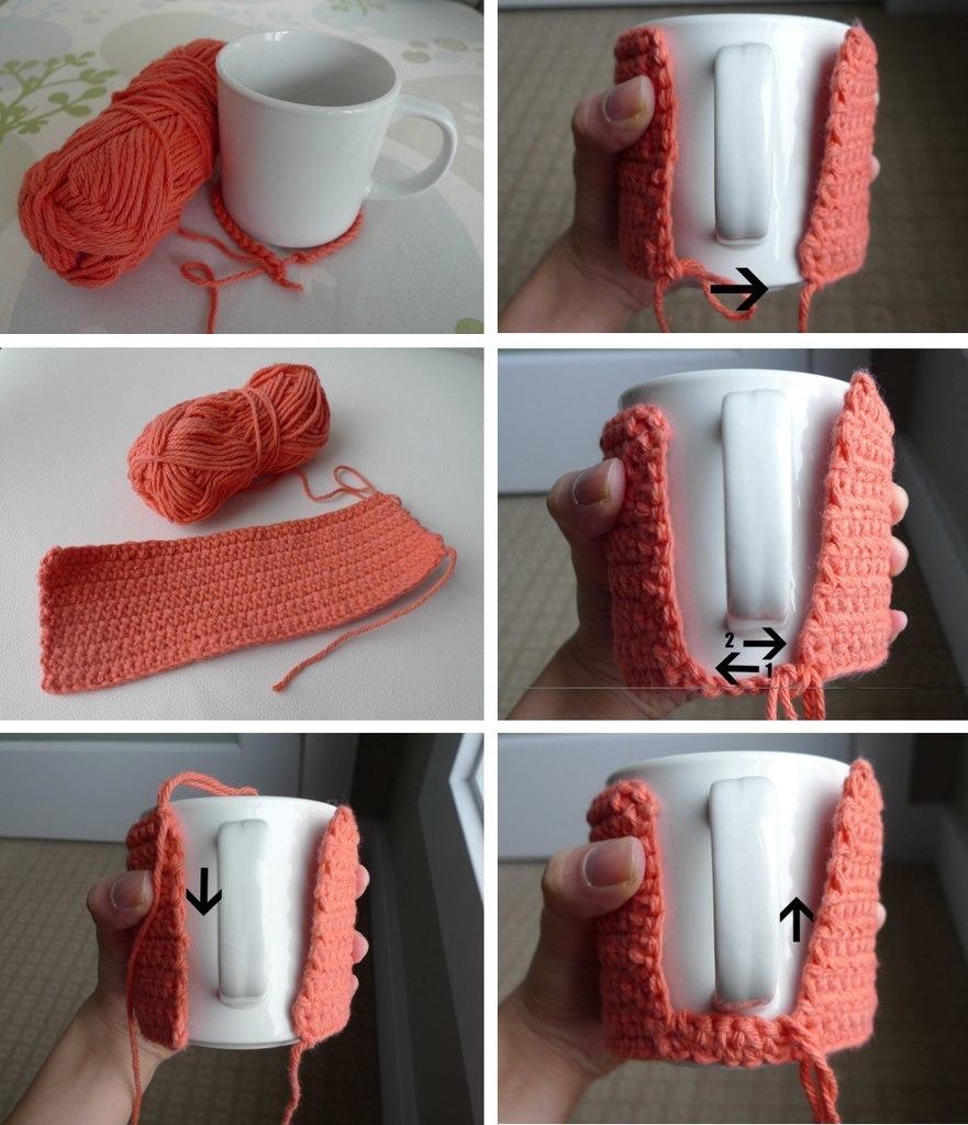 针织杯套(有一款教程) - maomao - 我随心动