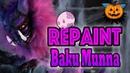Halloween special 🎃 Repaint Baku Munna Monster High Slo Mo Ooak Doll