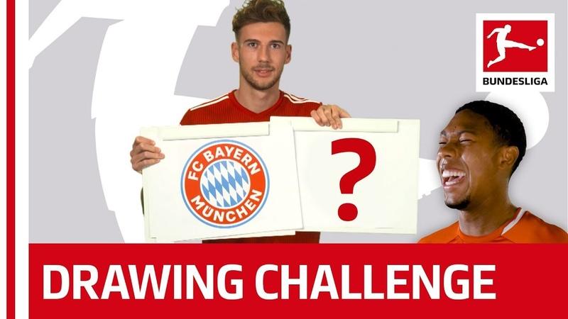 Bundesliga Stars Try to Draw Their Team Logos - Witsel, Goretzka Co.