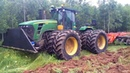 Tractors At Work Tree Bush Clearing Root Raking