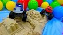 Мультики про машинки. Вспыш играет с песком. Видео для мальчиков.