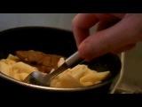 Маринованное мясо с макаронами на завтрак, чайный напиток, Fallout