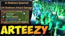 Arteezy 7.18 Wraith King LOL Skeleton Army - What a Comeback xD