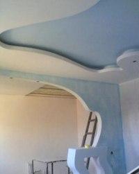 Внутренняя отделка стен. обрешетка потолка под гипсокартон.