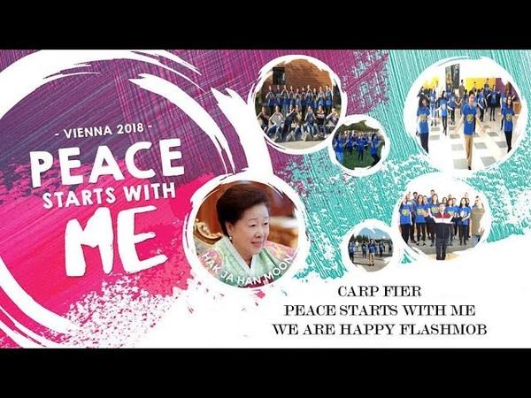 PEACE STRARTS WITH ME . Kercimi We Are Happy - Flashmob i CARP Fier