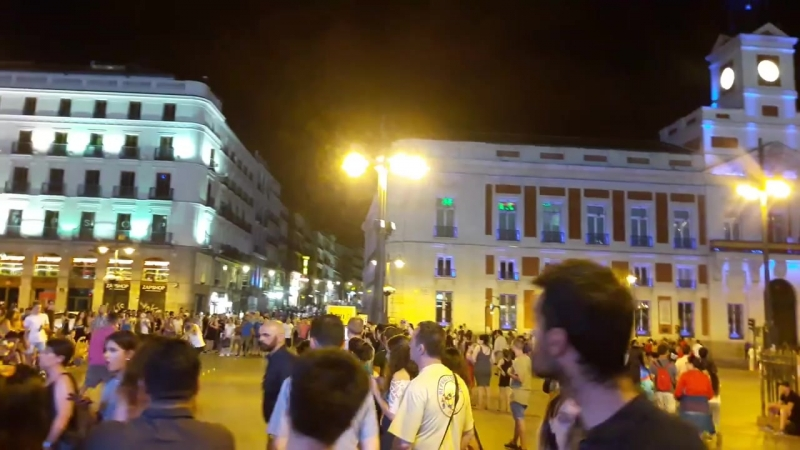 Madrid. La Puerta del Sol por la noche