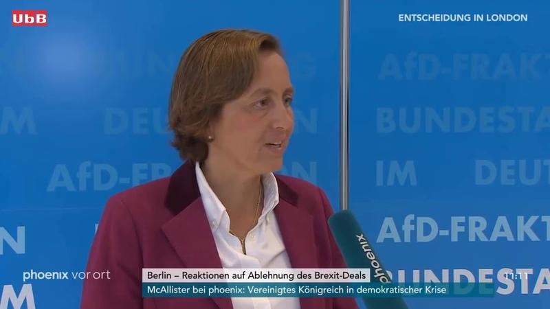 Statement von Beatrix von Storch (AfD) zur Ablehnung des Brexit-Deals durch das britische Unterhaus