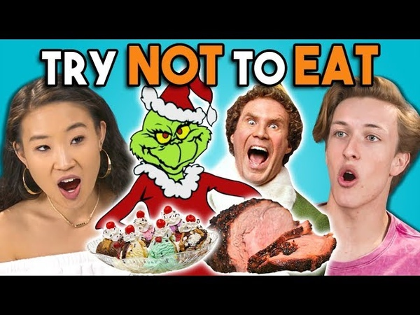 Try Not To Eat Challenge - Holiday Movies | Teens College Kids Vs. Food