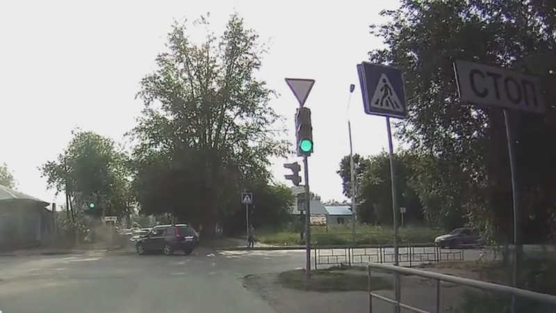 ДТП Рабиновича и Герцена, Омск (19.07.2018)