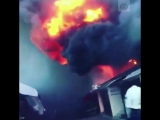 Пожар на рынке в Нальчике