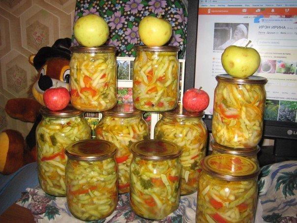 Салат из кабачков по-корейски на зиму Ингредиенты 2,5 кг