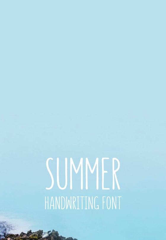 Шрифт summer