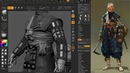 Shinobi Game Character Part 3 Attachments ZBrush 3Dmax