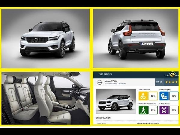2019 Volvo XC40 üretim aşamaları Euroncap çarpışma testi sonuçları ★★★★★